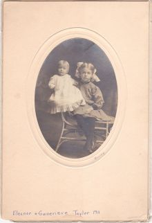 15a-  Eleanor and Genevieve Taylor 1911
